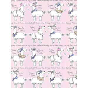 Llamas Llama-rama Wallpaper Pink Belgravia L9731 Bel008 Painting & Decorating