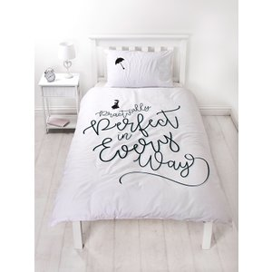 Not Specified Mary Poppins Perfect Single Duvet Cover And Pillowcase Set Myp001 Home Textiles