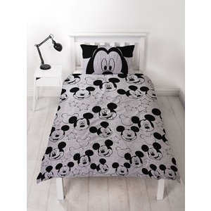 Mickey & Minnie Mouse Mickey Mouse Silhouette Single Duvet Cover And Pillowcase Set Mic421 Home Textiles