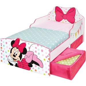 Mickey & Minnie Mouse Minnie Mouse Toddler Bed With Storage Plus Deluxe Foam Mattress Mic417 Mat003 Beds
