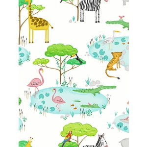 Animals Over The Rainbow Crocodile Lake Wallpaper White Holden 90930 Hld243 Painting & Decorating