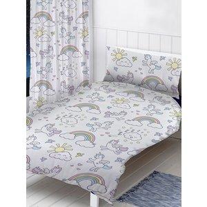Pastel Unicorns 4 In 1 Junior Bedding Bundle Set (duvet, Pillow And Gif002 Bun001 Home Textiles