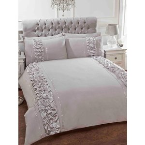 Not Specified Provence Grey Single Duvet Cover And Pillowcase Set Rad085 Home Textiles