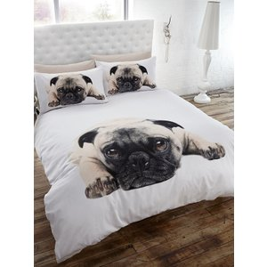 Animals Pug Single Duvet Cover And Pillowcase Set Duv473 Home Textiles