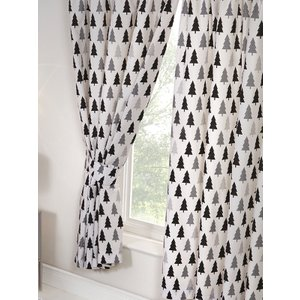 Scandi Bear Forest Lined Curtains Cur065 72 Curtains & Blinds