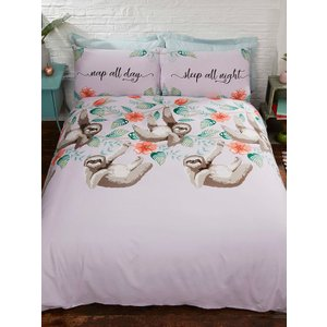 Not Specified Sloth Single Duvet Cover And Pillowcase Set Rap094 Home Textiles
