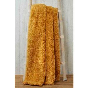 Rapport Snuggle Bedding Teddy Fleece Blanket Throw 200cm X 240cm - Ochre Rad316 Home Textiles