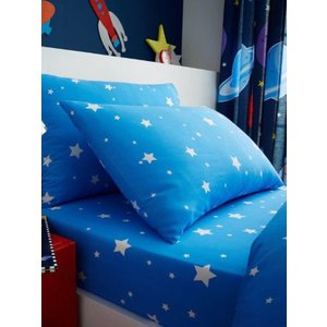 Space Stars Single Fitted Sheet And Pillowcase Set Taa059 Home Textiles