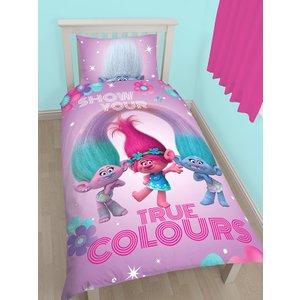 Trolls Glow Single Duvet Cover And Pillowcase Set Tro002 Home Textiles