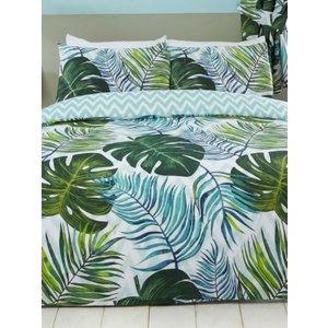 Tropical Palm Leaves Single Duvet Cover And Pillowcase Set Rap172 Home Textiles