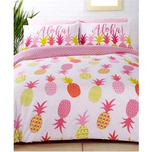Not Specified Tropical Pineapples Double Duvet Cover And Pillowcase Set Rap065 Home Textiles