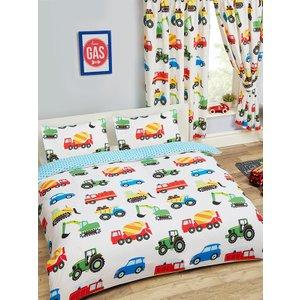Trucks & Transport Trucks And Transport Double Duvet Cover And Pillowcase Set Duv848 Home Textiles