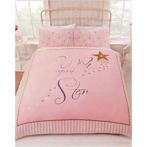 Stars Wish Upon A Star Double Duvet Cover And Pillowcase Set Rap059 Home Textiles