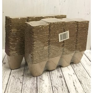 Selections Square Fibre 8cm Plant Pots (pack Of 288) Biodegradable And Compostable Gfk006