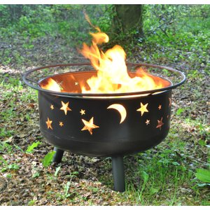 Selections Star And Moon Fire Bowl With Grill, Safety Guard And Poker Gfj306