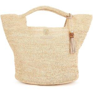 Heidi Klein Grace Bay Mini Raffia Bucket Bag - Natural, Beige