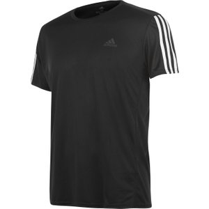 Adidas 3 Stripe T Shirt Mens Black/white 270973 L 451147, Black/White