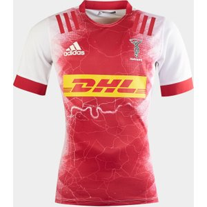 Adidas Harlequins 2020/22 Kids Away S/s Replica Shirt White/ Red Beauty 436012 13 Ge0884, White/ Red Beauty
