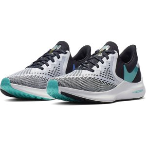Nike Air Zoom Winflo 6 Womens Running Shoe Black/green/wht 253492 5 214805, Black/Green/Wht