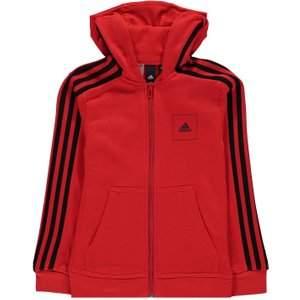 Adidas Athletics Club Full Zip Hoodie Junior Boys Vivid Red/black 399896 L 533631, Vivid Red/Black