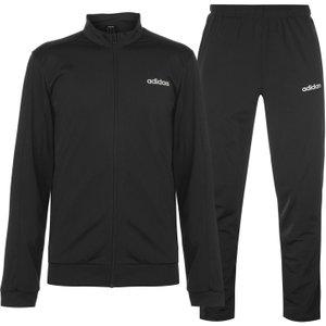 Adidas Basics Polyester Tracksuit Mens Black/black/wht 286260 M 638421, Black/Black/Wht