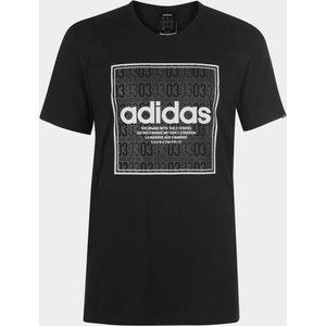 Adidas Box Linear Mens T Shirt Blk/dkgrey/wht 279777 L 598330, Blk/DkGrey/Wht