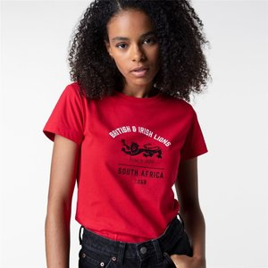 Canterbury British And Irish Lions Graphic Print T Shirt Ladies Red/black 399696 L 380327, Red/Black