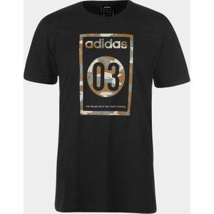 Adidas Camo Mens T Shirt Black/grey 289091 Xl 598297, Black/Grey