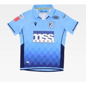 Macron Cardiff Blues 20/21 Home Shirt Kids 603907 Xlb Tbc, Blue