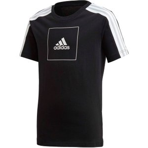 Adidas Club T Shirt Junior Boys Black/white 393312 M 623131, Black/White