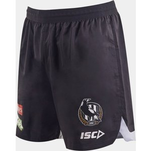 Isc Collingwood Magpies 2020 Afl Players Training Shorts Black 392092 3xl Cw20sho01m, Black
