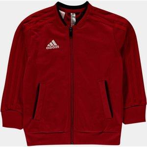 Adidas Condivo Polyester Jacket Junior Boys Red/black 361925 L 553920, Red/Black