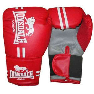 Lonsdale Contender Boxing Gloves Red 327476 Jnr 762346, Red