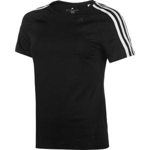 Adidas D2m 3 Stripe T-shirt Ladies Black/white 240023 M 343040, Black/White