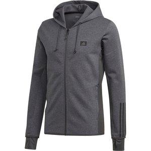 Adidas Designed To Move Motion Zip Mens Hoodie Dkgrey/black 558157 D20c 530045, DkGrey/Black