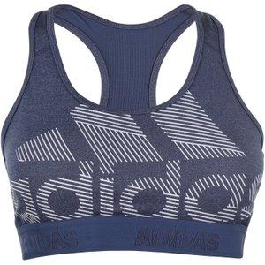 Adidas Dont Rest Alphaskin Badge Of Sport Sports Bra Ladies Ink/heather 345928 S 341232, Ink/Heather