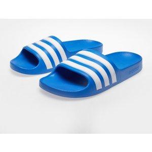 Adidas Duramo Slide Pool Shoes Boys Blue/white 342895 3 225058, Blue/White
