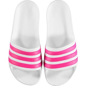 Adidas Duramo Sliders Junior Girls White/pink 343185 5 224087, White/Pink