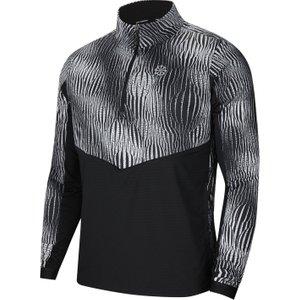 Nike Element Warm Zip Top Mens Black/reflect 152374 S 452113, Black/Reflect