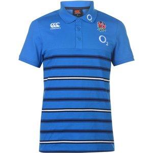 Canterbury England Rugby Striped Polo Shirt Mens Blue 245991 S 384082, Blue