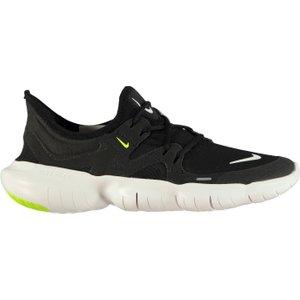 Nike Free Run 5.0 Ladies Running Shoes Black/white 255056 7h 214820, Black/White