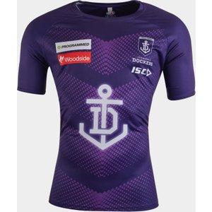 Isc Fremantle Dockers 2020 Afl Players Training T-shirt Purple 392055 Xxl Fd20tsh01m, Purple