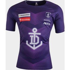 Isc Fremantle Dockers 2020 Afl Players Training T-shirt Purple 392055 4xl Fd20tsh01m, Purple