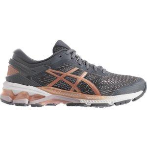 Asics Gel Kayano 26 Ladies Running Shoes Grey/pink 383777 6h 215093, Grey/Pink