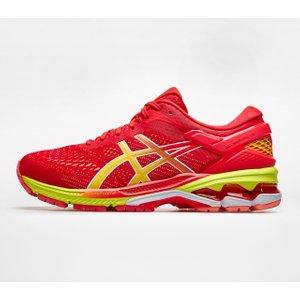 Asics Gel Kayano 26 Ladies Running Shoes Pink/yellow 297046 7h 215020, Pink/Yellow