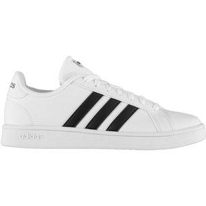 Adidas Grand Court Base Mens  Trainers White/black 307329 11 163044, White/Black