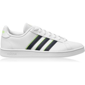 Adidas Grand Court Base Mens Trainers Wht/navy/lime 433711 8 163044, Wht/Navy/Lime