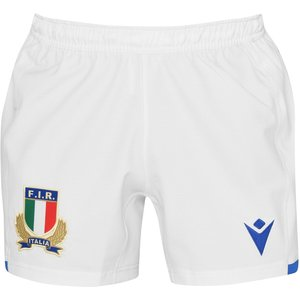 Macron Italy 20/21 Home Playing Shorts Mens White 559057 5dbc 385365, White
