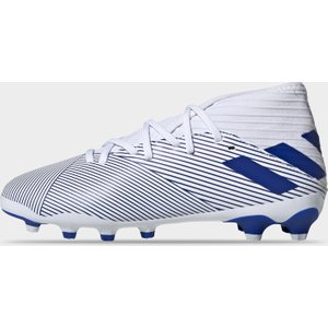 Adidas Junior Nemeziz 19.3 Mixed Ground Football Boots White/blue 425692 2h 080054, White/Blue
