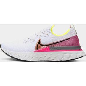 Nike Ladies React Infinity Run Flyknit Running Shoes Platinum/pink 331823 6h 214997, Platinum/Pink